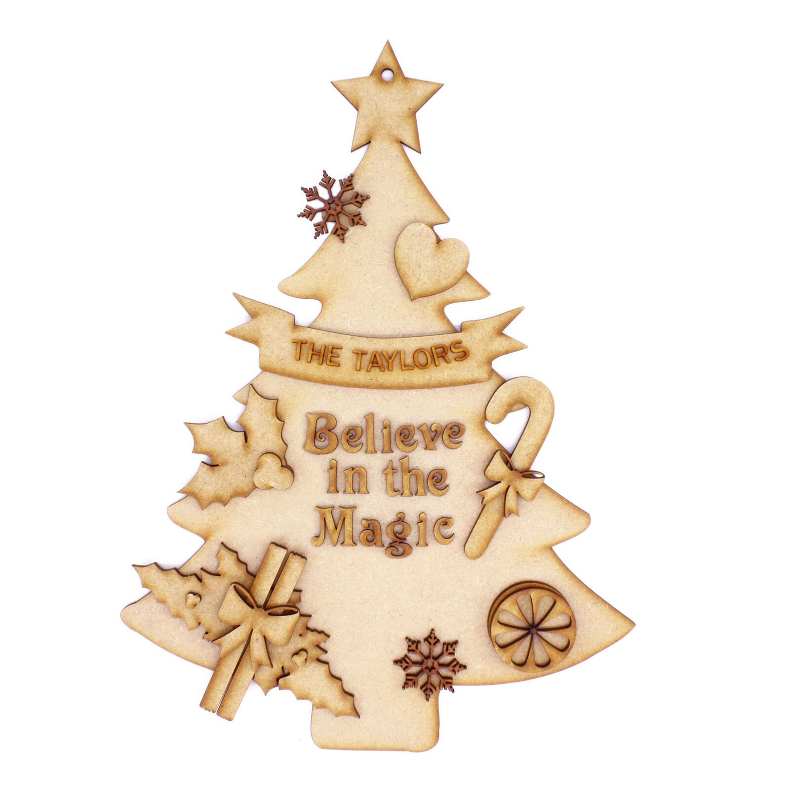Christmas Magic Decorations Personalised Family Name Set Mdf Fun Diy Craft Kit